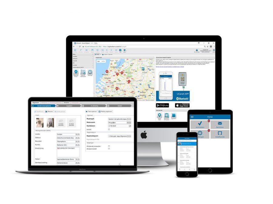 Multiple screens UCare4 digitaal logboek